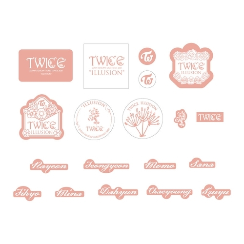 "TWICE JAPAN SEASON'S GREETINGS 2020 ""ILLUSION"" SPECIAL GOODS シールセット"