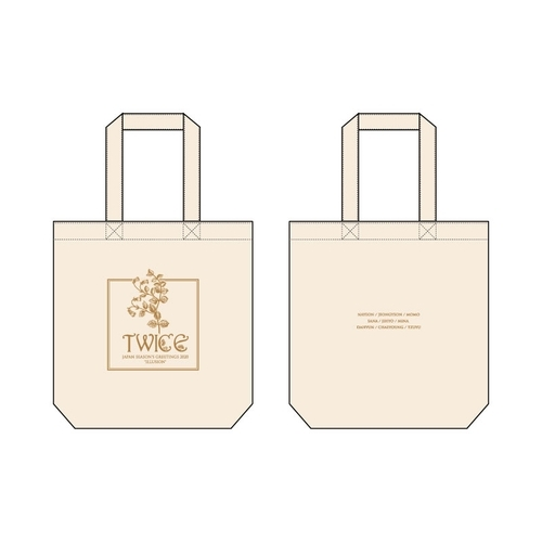 "TWICE JAPAN SEASON'S GREETINGS 2020 ""ILLUSION"" SPECIAL GOODS トートバッグ/NATURAL"