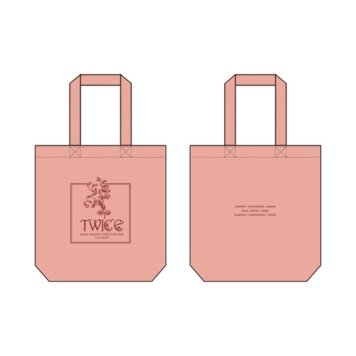 "TWICE JAPAN SEASON'S GREETINGS 2020 ""ILLUSION"" SPECIAL GOODS トートバッグ/PINK"