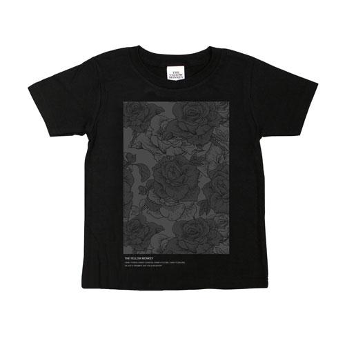 バラ色 Tシャツ(Black)/Kids