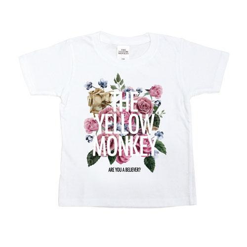 バラ色 Tシャツ(White)/Kids