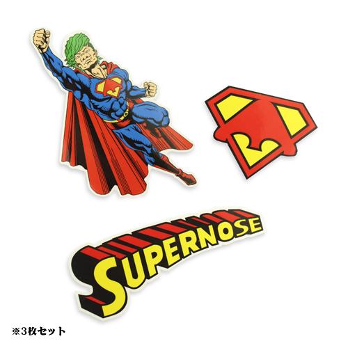 """【信人 Produce】""""SUPER NOSE MAN"""" ステッカーセット"""