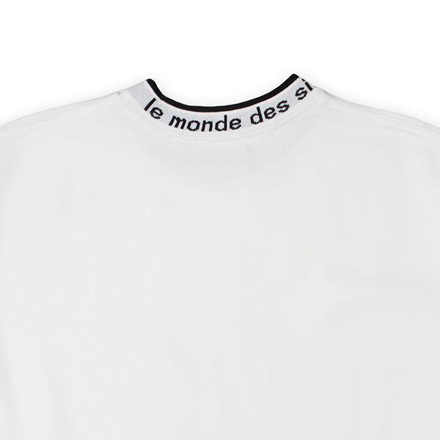 モックネックTシャツ(ホワイト)