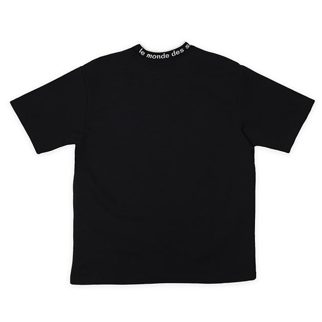 モックネックTシャツ(ブラック)