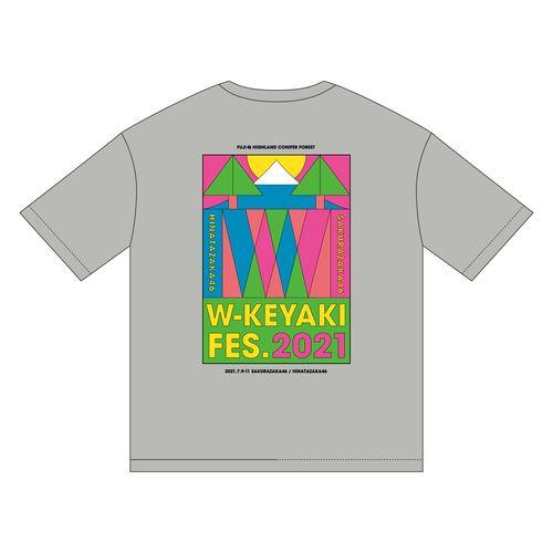 【通常配送】W-KEYAKI FES.2021 ビッグTシャツ/グレー