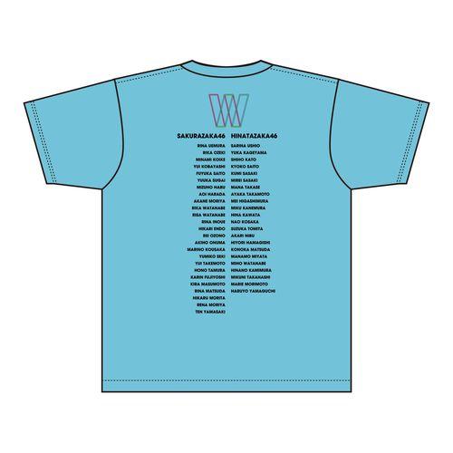 【通常配送】W-KEYAKI FES.2021 ロゴTシャツ/スカイブルー