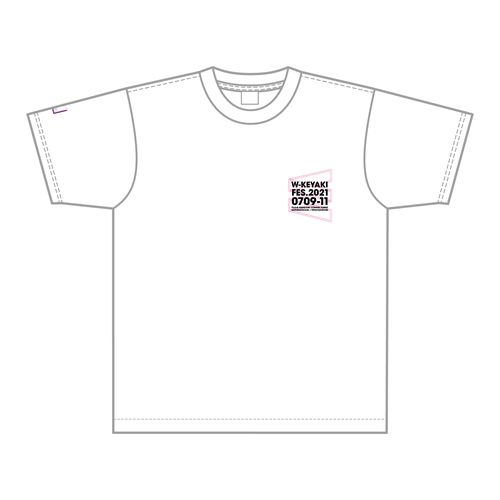 【通常配送】W-KEYAKI FES.2021 ダブルTシャツ/ホワイト×ピンク