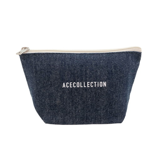 【ACE COLLECTION】LOGO DENIM POUCH