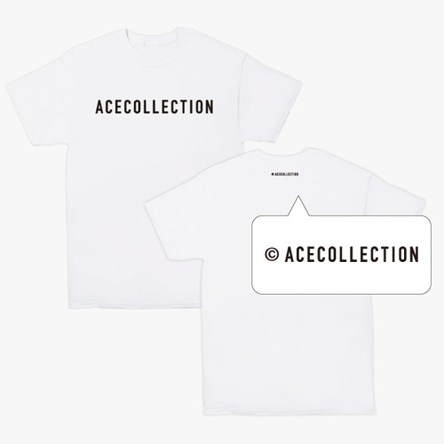 【ACE COLLECTION】LOGO TEE/WHITE