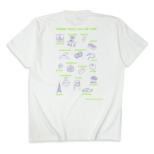 SSS-additional show- Tシャツ/ホワイト【AIMYON TOUR 2019-20】
