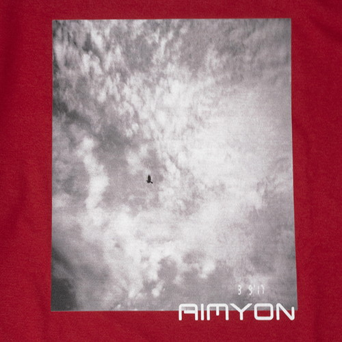 """Her Blue Sky"" long T-shirt/レッド【AIMYON TOUR 2019-20】"