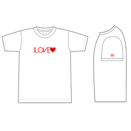 I LOVE Tshirt White