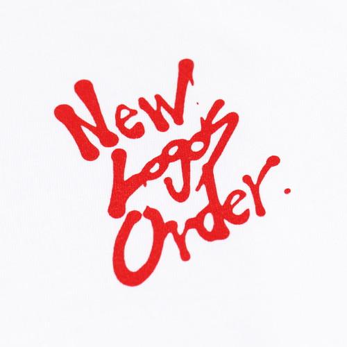 New Logos Order Ver. 1.01 character T-shirt (White)