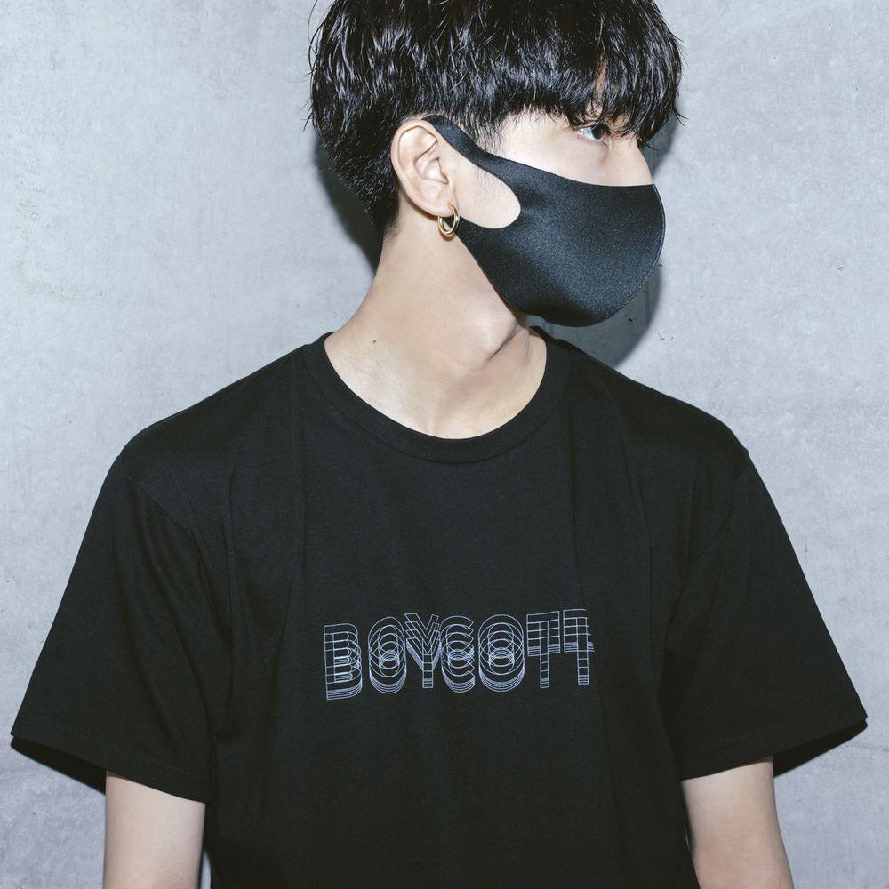 amazarashi BOYCOTT T-shirt /Black
