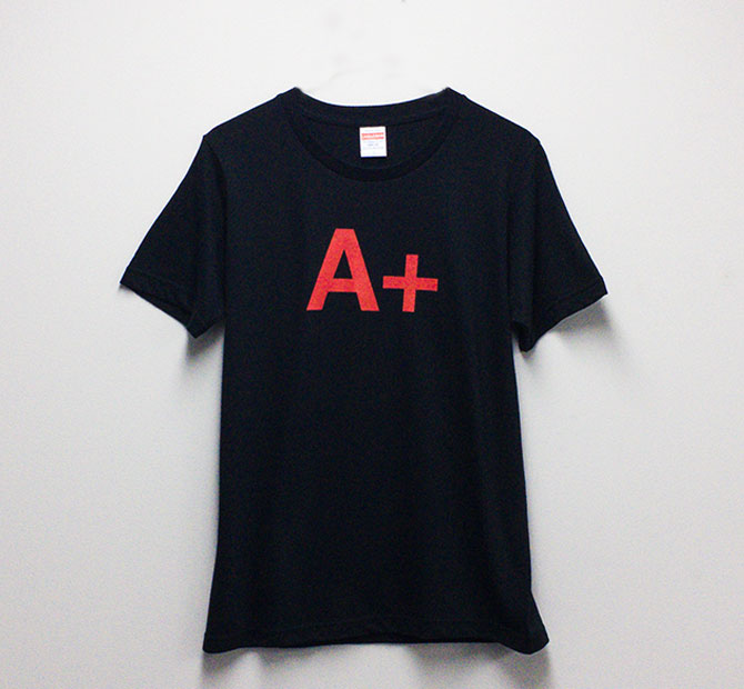 Design T shirt・A+ #34 【Black&Red】