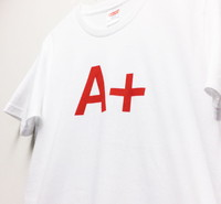 Design T shirt・A+ #34 【White&Red】