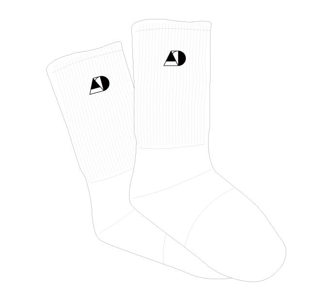 Socks 【White】