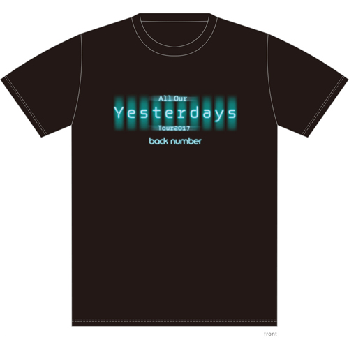 All Our Yesterdays Tour ツアーロゴTシャツ/ブラック