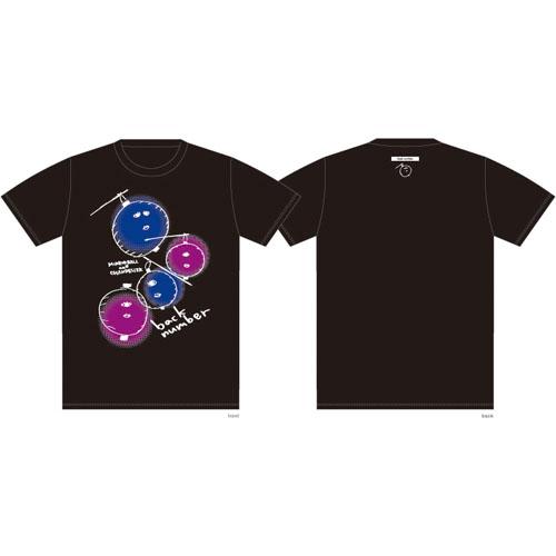 依与吏手描きイラスト ちょうちんおばけTシャツ/ブラック