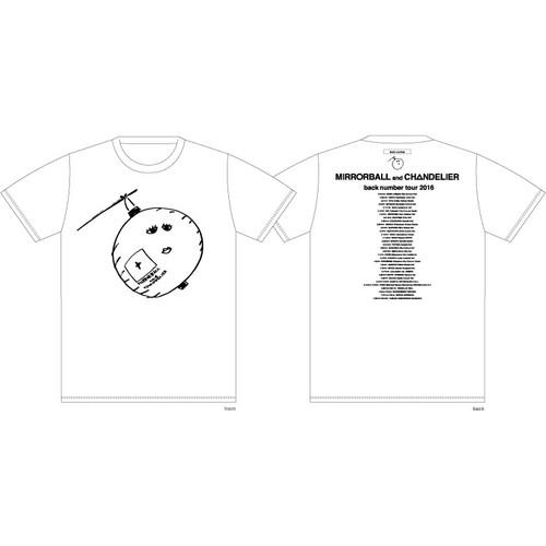 依与吏手描きイラスト ちょうちんおばけTシャツ/ホワイト