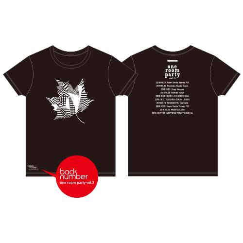 紅葉Tシャツ/ブラック