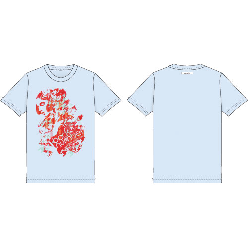"""stay with you""グラフィックTシャツ/ライトブルー"