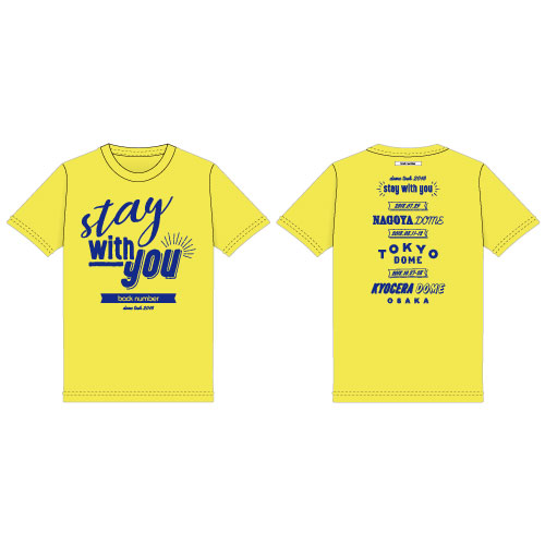 """""""stay with you""""レタリングTシャツ/イエロー"""
