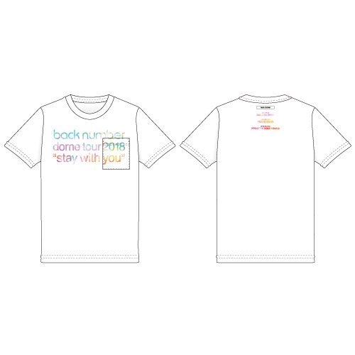 """stay with you""グラデツアーロゴポケットTシャツ/ホワイト"