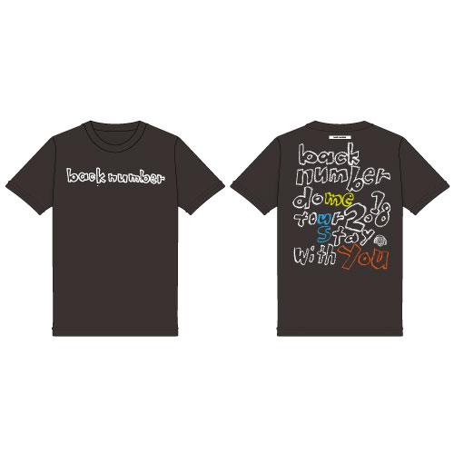 依与吏手描きツアーロゴTシャツ/ブラック
