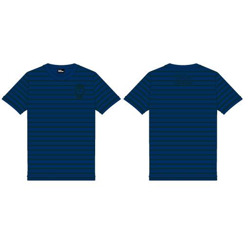 【通販限定】依与吏手描きイラスト 囚人くんボーダーTシャツ/ネイビーグリーン