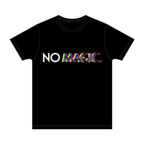 NO MAGIC 三色ロゴTシャツ/ブラック