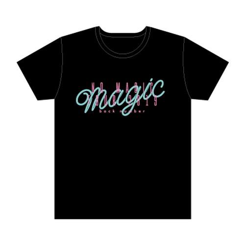 pop magic ロゴTシャツ/ブラック