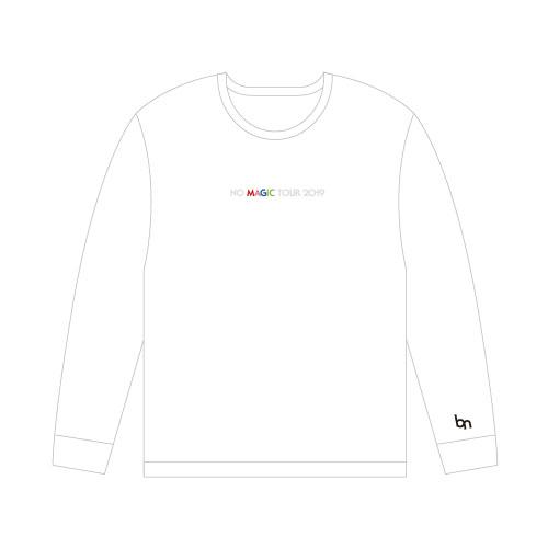 NO MAGIC ロングTシャツ/ホワイト