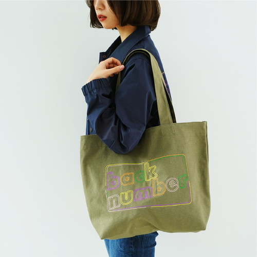 back number 刺繍トートバッグ
