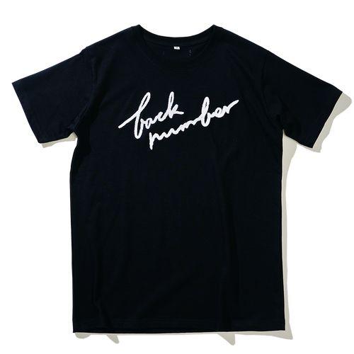 もこもこ筆記体back number Tシャツ/ブラック