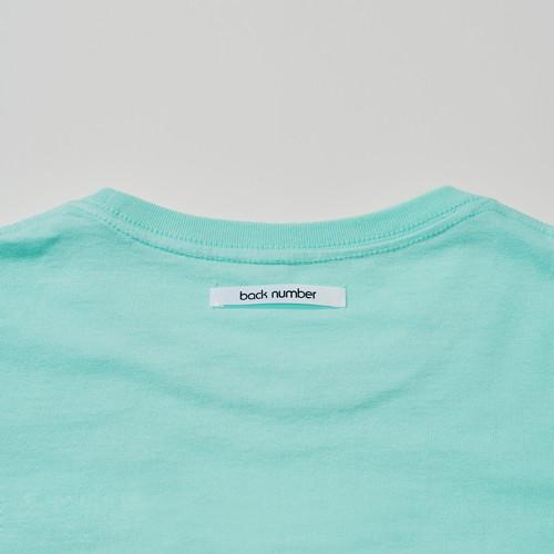 もこもこ筆記体back number Tシャツ/ミント