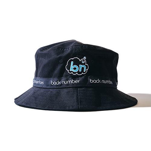 依与吏の手描きbn帽子/ブラック