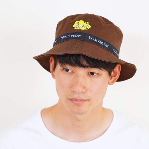 依与吏の手描きbn帽子/ブラウン