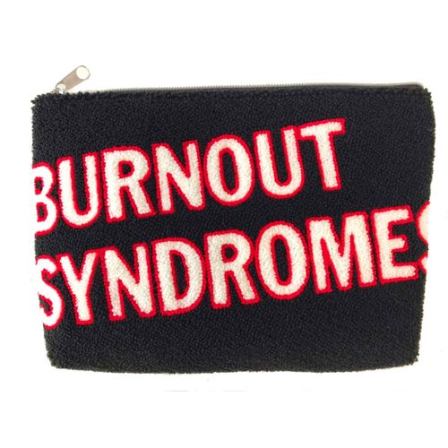 【BURNOUT SYNDROMES】LOGO2020 サガラ刺繍ポーチ