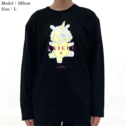 【EXIEEE×entrance】 ロンTシャツ(ユニコーン) / ブラック