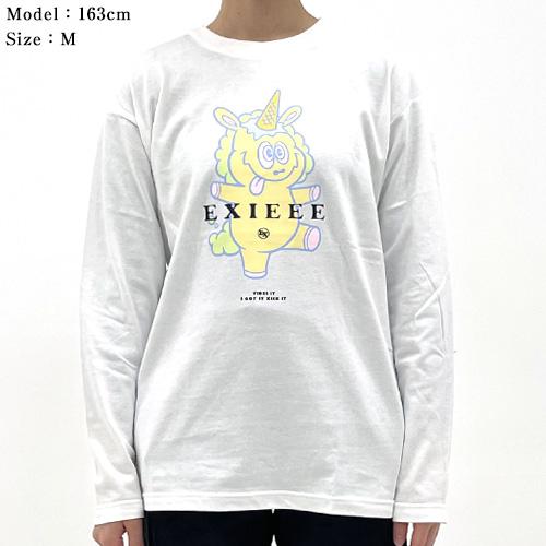 【EXIEEE×entrance】 ロンTシャツ(ユニコーン) / ホワイト
