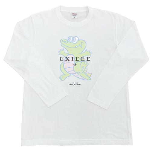 【EXIEEE×entrance】 ロンTシャツ(ワニ) / ホワイト