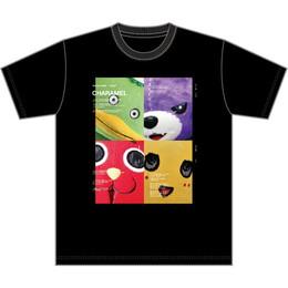 CHARAMEL Tシャツ(ハーフトーン/ブラック)
