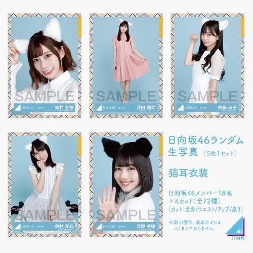 【通常配送】日向坂46 ランダム生写真(5枚1セット) 【猫耳衣装】