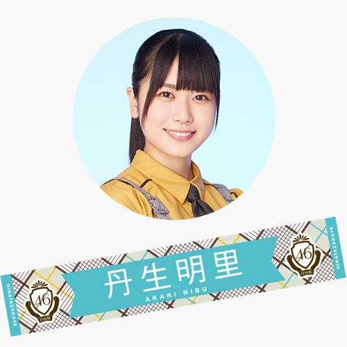 【通常配送】3rdシングル 推しメンマフラータオル 丹生明里