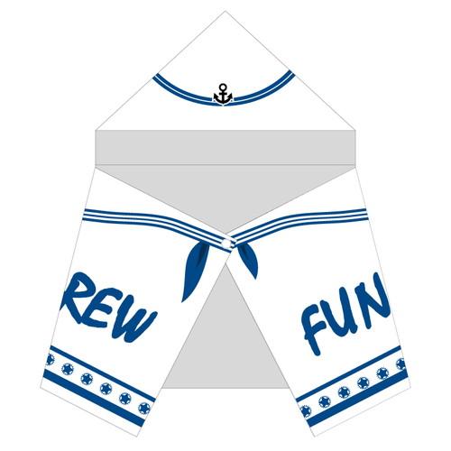 ≪ファンキー号CREW限定受注商品≫FUNKY GO CREWフード付き大判タオル~船員服ver.~
