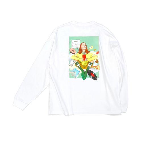 楽しみを待ちながら、ロングスリーブTシャツ【FC限定/ビッグシルエットボディ】