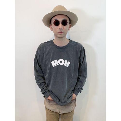 """""""MON""""ユーズド加工ロンT"""