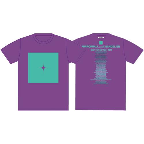 光のロゴマークTシャツ/パープル