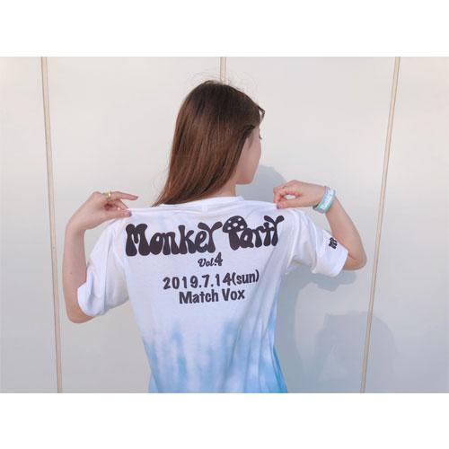 Monkey Party Vol.4 限定タイダイデザインTシャツ-Monkey Camp会員様限定グッズ-